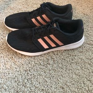 Adidas Black Lace & Rose Gold Sneakers